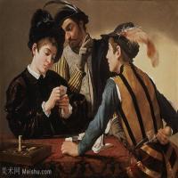 【印刷级】YHR15114056-意大利画家卡拉瓦乔Caravaggio油画人物高清图片Cardsharps (c.1597)-97M-6856X4952