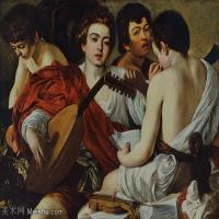 【印刷级】YHR15114048-意大利画家卡拉瓦乔Caravaggio油画人物高清图片The Musicians Caravaggio (c.1595)-81M-6126X4665