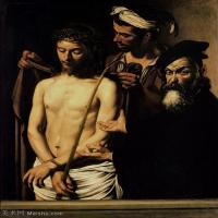 【印刷级】YHR15114031-意大利画家卡拉瓦乔Caravaggio油画人物高清图片Ecce Homo (c. 1605)-47M-3659X4547
