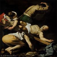 【印刷级】YHR15114042-意大利画家卡拉瓦乔Caravaggio油画人物高清图片Crucifixion of Saint Peter (c.1600)-71M-4416X5689