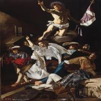 【印刷级】YHR15114040-意大利画家卡拉瓦乔Caravaggio油画人物高清图片del Caravaggio  The Resurrection-64M-3616X6265
