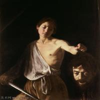 【印刷级】YHR15114054-意大利画家卡拉瓦乔Caravaggio油画人物高清图片David with the Head of Goliath-Caravaggio (1610)-94M-516