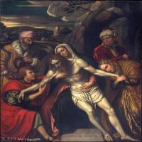 【打印级】YHR15114016-意大利画家卡拉瓦乔Caravaggio油画人物高清图片The Entombment-31M-2937X3722