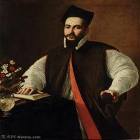 【印刷级】YHR15114055-意大利画家卡拉瓦乔Caravaggio油画人物高清图片Portrait of Pope Urban_VIII-94M-5156X6420