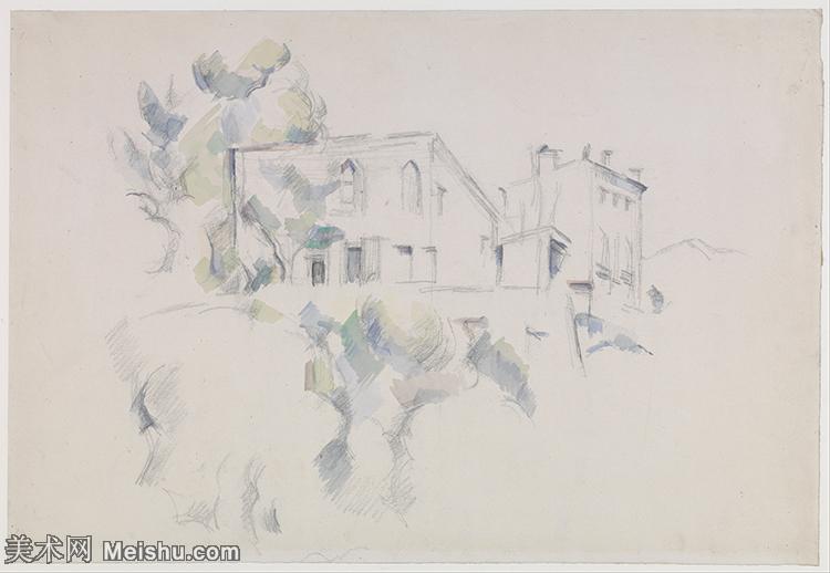 【印刷级】YHR151617149-法国著名画家保罗塞尚Paul Cézanne印象派油画作品高清图片塞尚静物画塞尚风景