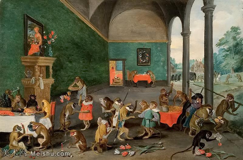 【欣赏级】YHR200856014-彼得勃鲁盖尔Bruegel Pieter荷兰画家油画作品高清图片-7M-2000X1