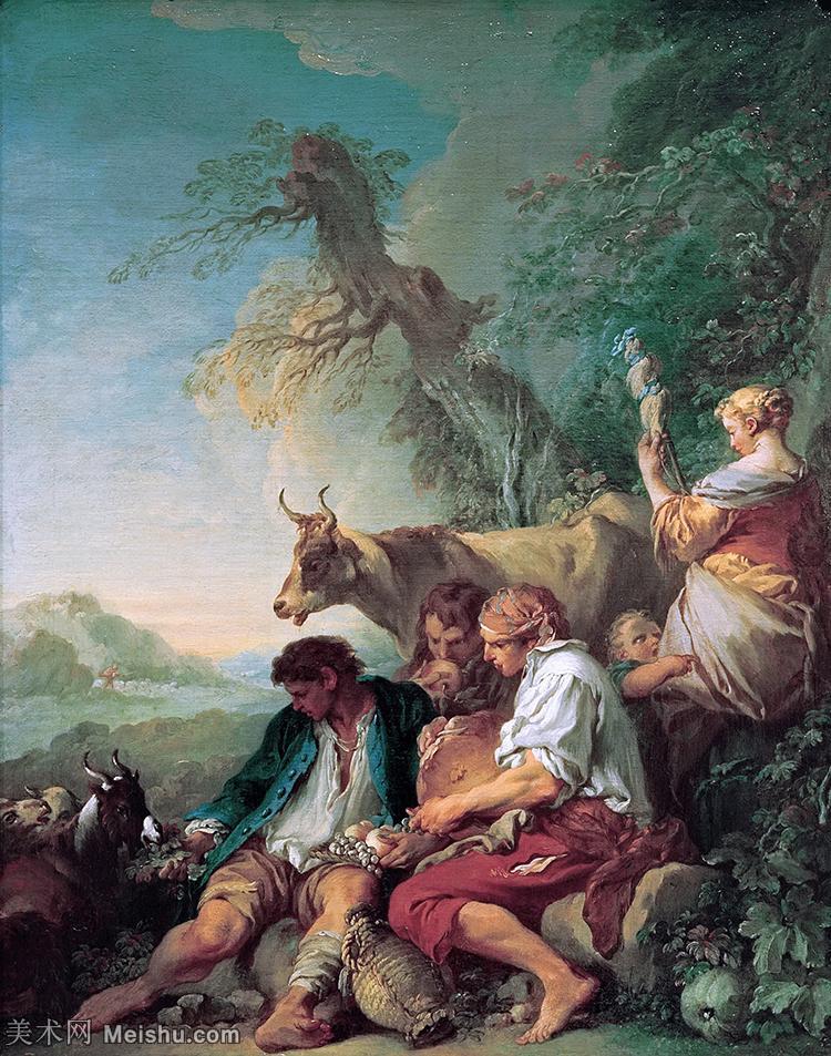 【打印级】YHR171349156-法国洛可可风格画派画家弗朗索瓦布歇Francois Boucher油画作品高清图片肖