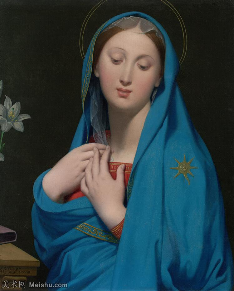 【印刷级】YHR171311122-法国画家安格尔DominiqueIngres作品高清图片古典主义画家安格尔绘画作品高