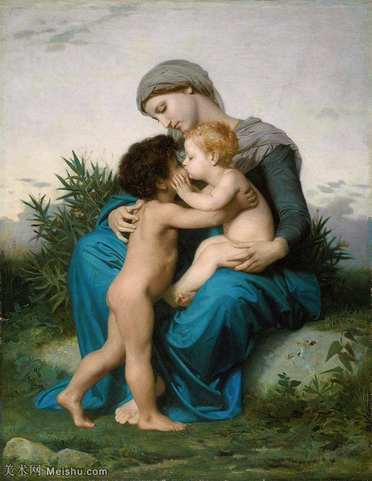 【欣赏级】YHR171341009-法国学院派画家威廉阿道夫布格罗Bouguereau Adolphe William油