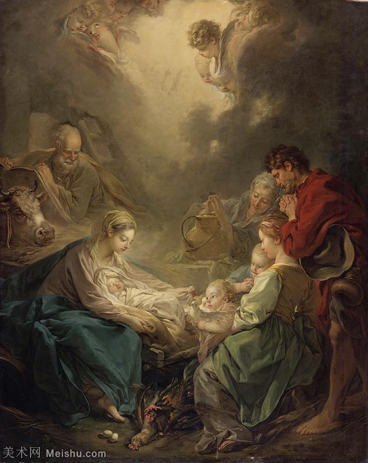 【打印级】YHR171349203-法国洛可可风格画派画家弗朗索瓦布歇Francois Boucher油画作品高清图片肖