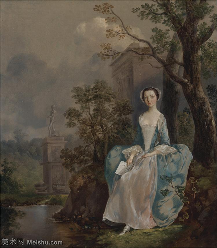 【印刷级】YHR171456142-英国画家托马斯庚斯博罗Thomas Gainsborough肖像画风景画高清图片-6