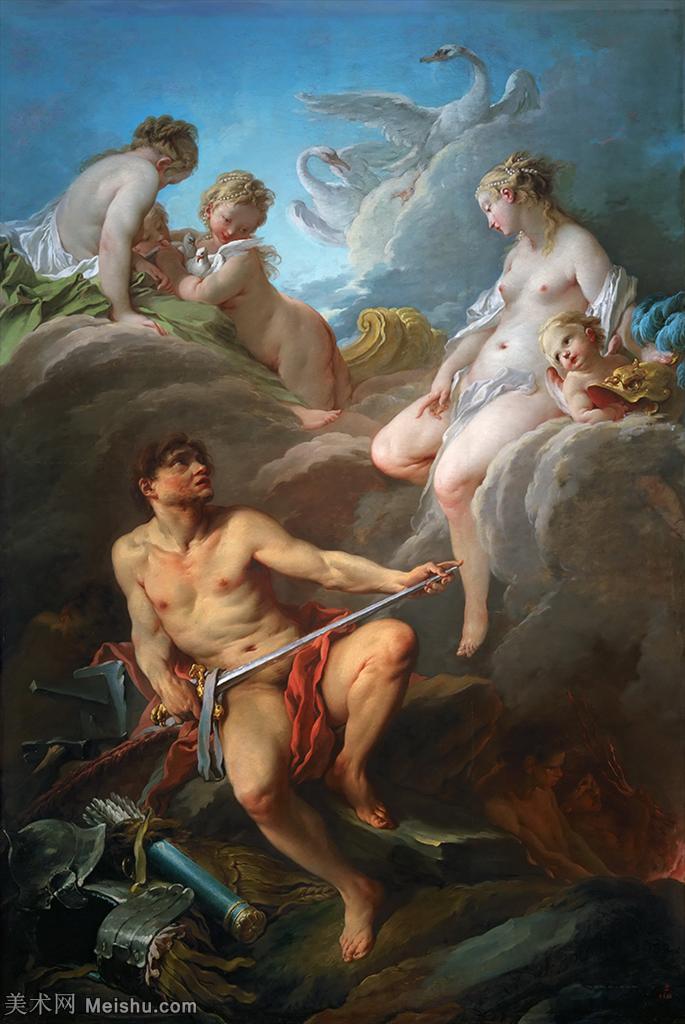 【打印级】YHR171349205-法国洛可可风格画派画家弗朗索瓦布歇Francois Boucher油画作品高清图片肖