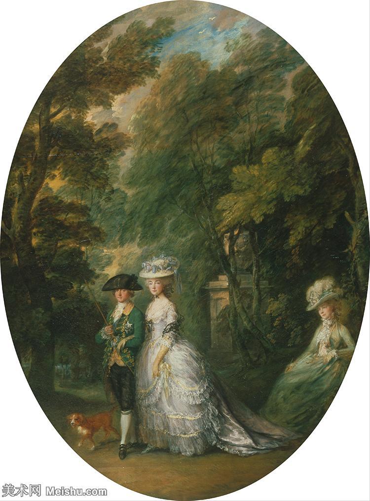 【印刷级】YHR171456116-英国画家托马斯庚斯博罗Thomas Gainsborough肖像画风景画高清图片-4
