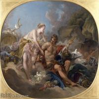 【印刷级】YHR171349223-法国洛可可风格画派画家弗朗索瓦布歇Francois Boucher油画作品高清图片肖像画古典宫廷油画高清图片-44M-4404X3499