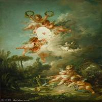 【印刷级】YHR171349237-法国洛可可风格画派画家弗朗索瓦布歇Francois Boucher油画作品高清图片肖像画古典宫廷油画高清图片-58M-3535X5745