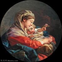 【印刷级】YHR171349224-法国洛可可风格画派画家弗朗索瓦布歇Francois Boucher油画作品高清图片肖像画古典宫廷油画高清图片-44M-3572X4385
