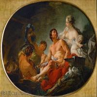 【印刷级】YHR171349254-法国洛可可风格画派画家弗朗索瓦布歇Francois Boucher油画作品高清图片肖像画古典宫廷油画高清图片-72M-5868X4300