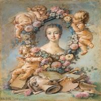 【印刷级】YHR171349265-法国洛可可风格画派画家弗朗索瓦布歇Francois Boucher油画作品高清图片肖像画古典宫廷油画高清图片-78M-4592X5968