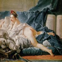 【印刷级】YHR171349229-法国洛可可风格画派画家弗朗索瓦布歇Francois Boucher油画作品高清图片肖像画古典宫廷油画高清图片-50M-4772X3672