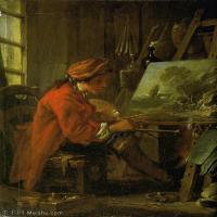 【印刷级】YHR171349251-法国洛可可风格画派画家弗朗索瓦布歇Francois Boucher油画作品高清图片肖像画古典宫廷油画高清图片-70M-4270X5733