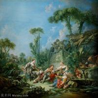 【印刷级】YHR171349225-法国洛可可风格画派画家弗朗索瓦布歇Francois Boucher油画作品高清图片肖像画古典宫廷油画高清图片-46M-4000X4065