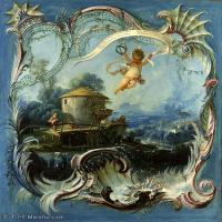 【印刷级】YHR171349221-法国洛可可风格画派画家弗朗索瓦布歇Francois Boucher油画作品高清图片肖像画古典宫廷油画高清图片-43M-3591X4200