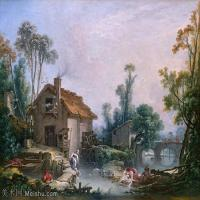【印刷级】YHR171349242-法国洛可可风格画派画家弗朗索瓦布歇Francois Boucher油画作品高清图片肖像画古典宫廷油画高清图片-63M-5240X4226