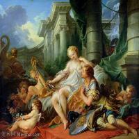 【印刷级】YHR171349234-法国洛可可风格画派画家弗朗索瓦布歇Francois Boucher油画作品高清图片肖像画古典宫廷油画高清图片-55M-4930X3913