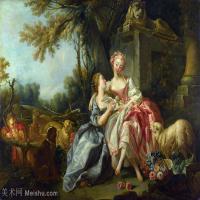 【印刷级】YHR171349249-法国洛可可风格画派画家弗朗索瓦布歇Francois Boucher油画作品高清图片肖像画古典宫廷油画高清图片-67M-5616X4226