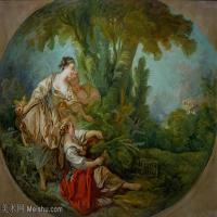 【印刷级】YHR171349252-法国洛可可风格画派画家弗朗索瓦布歇Francois Boucher油画作品高清图片肖像画古典宫廷油画高清图片-70M-5867X4195