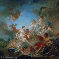 【印刷级】YHR171349269-法国洛可可风格画派画家弗朗索瓦布歇Francois Boucher油画作品高清图片肖像画古典宫廷油画高清图片-93M-5826X5633