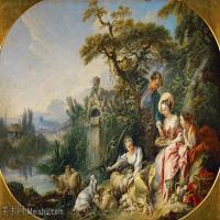 【印刷级】YHR171349243-法国洛可可风格画派画家弗朗索瓦布歇Francois Boucher油画作品高清图片肖像画古典宫廷油画高清图片-65M-5860X3890