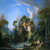 【印刷级】YHR171349250-法国洛可可风格画派画家弗朗索瓦布歇Francois Boucher油画作品高清图片肖像画古典宫廷油画高清图片-68M-5562X4305