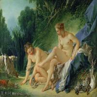 【印刷级】YHR171349253-法国洛可可风格画派画家弗朗索瓦布歇Francois Boucher油画作品高清图片肖像画古典宫廷油画高清图片-70M-5783X4270
