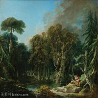 【印刷级】YHR171349262-法国洛可可风格画派画家弗朗索瓦布歇Francois Boucher油画作品高清图片肖像画古典宫廷油画高清图片-76M-5905X4531