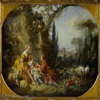 【印刷级】YHR171349255-法国洛可可风格画派画家弗朗索瓦布歇Francois Boucher油画作品高清图片肖像画古典宫廷油画高清图片-73M-6000X4259