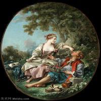 【印刷级】YHR171349227-法国洛可可风格画派画家弗朗索瓦布歇Francois Boucher油画作品高清图片肖像画古典宫廷油画高清图片-48M-3781X4505