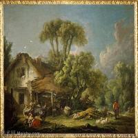 【印刷级】YHR171349240-法国洛可可风格画派画家弗朗索瓦布歇Francois Boucher油画作品高清图片肖像画古典宫廷油画高清图片-59M-5100X4090