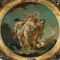 【印刷级】YHR171349264-法国洛可可风格画派画家弗朗索瓦布歇Francois Boucher油画作品高清图片肖像画古典宫廷油画高清图片-78M-4556X6000