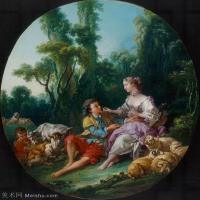 【印刷级】YHR171349257-法国洛可可风格画派画家弗朗索瓦布歇Francois Boucher油画作品高清图片肖像画古典宫廷油画高清图片-74M-4713X5548