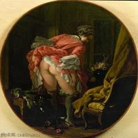 【印刷级】YHR171349228-法国洛可可风格画派画家弗朗索瓦布歇Francois Boucher油画作品高清图片肖像画古典宫廷油画高清图片-49M-3692X4640