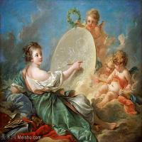【印刷级】YHR171349266-法国洛可可风格画派画家弗朗索瓦布歇Francois Boucher油画作品高清图片肖像画古典宫廷油画高清图片-80M-6009X4674