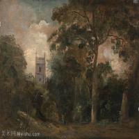 【印刷级】YHR171501200-19世纪英格兰风景画家康斯坦布尔Constance欧洲风景画高清图片-94M-6768X4866