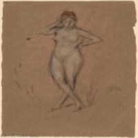 【欣赏级】YHR18083725-美国画家惠斯勒James Abbott McNeill Whistler油画作品高清图片-16M-1933X3000