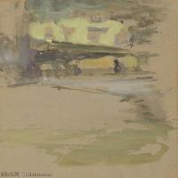 【欣赏级】YHR18083734-美国画家惠斯勒James Abbott McNeill Whistler油画作品高清图片-20M-2191X3200