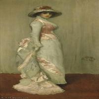 【欣赏级】YHR18083713-美国画家惠斯勒James Abbott McNeill Whistler油画作品高清图片-11M-1359X2941