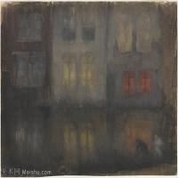 【印刷级】YHR18083767-美国画家惠斯勒James Abbott McNeill Whistler油画作品高清图片-70M-5601X4402