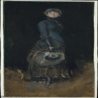 【欣赏级】YHR18083732-美国画家惠斯勒James Abbott McNeill Whistler油画作品高清图片-18M-1762X3722