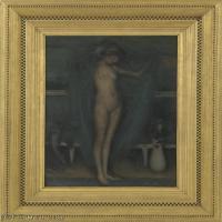 【欣赏级】YHR18083717-美国画家惠斯勒James Abbott McNeill Whistler油画作品高清图片-12M-1858X2400