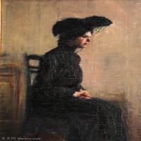 【欣赏级】YHR18083702-美国画家惠斯勒James Abbott McNeill Whistler油画作品高清图片-6M-1224X1888